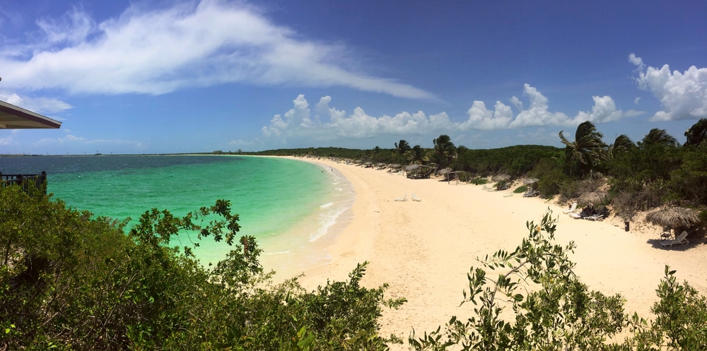 The beach next door to Villa Las Brujas, Cayo Santa Maria, Cuba