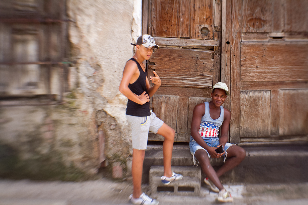 Young guys hanging out, Havana, Cuba