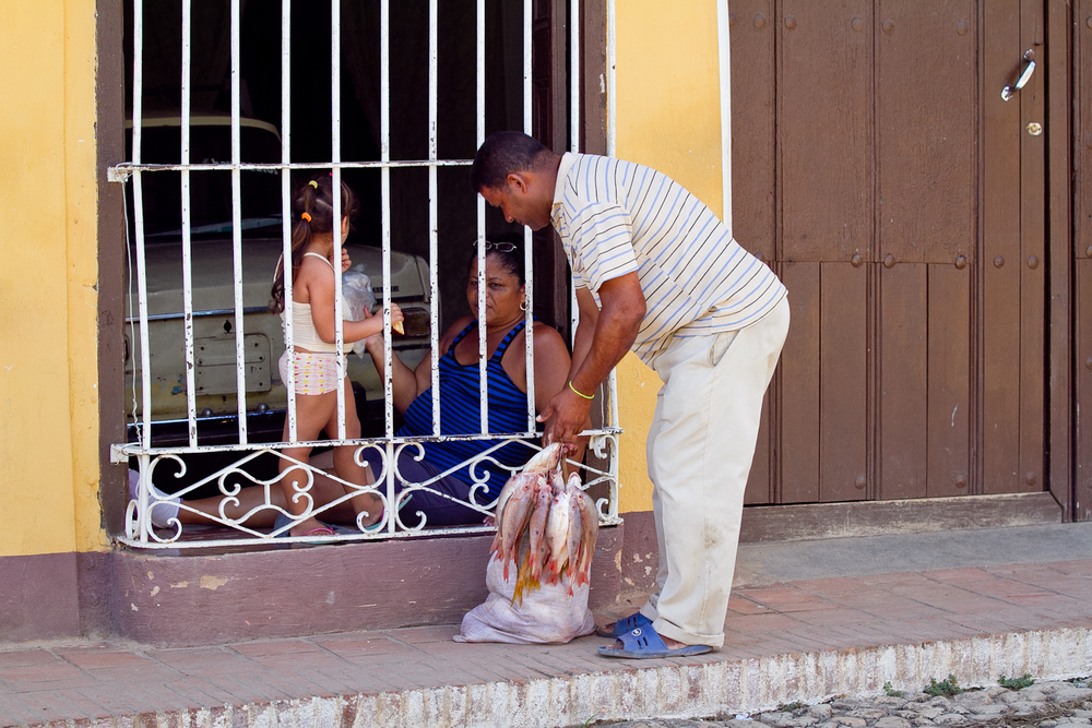Fish monger, Trinidad, Cuba
