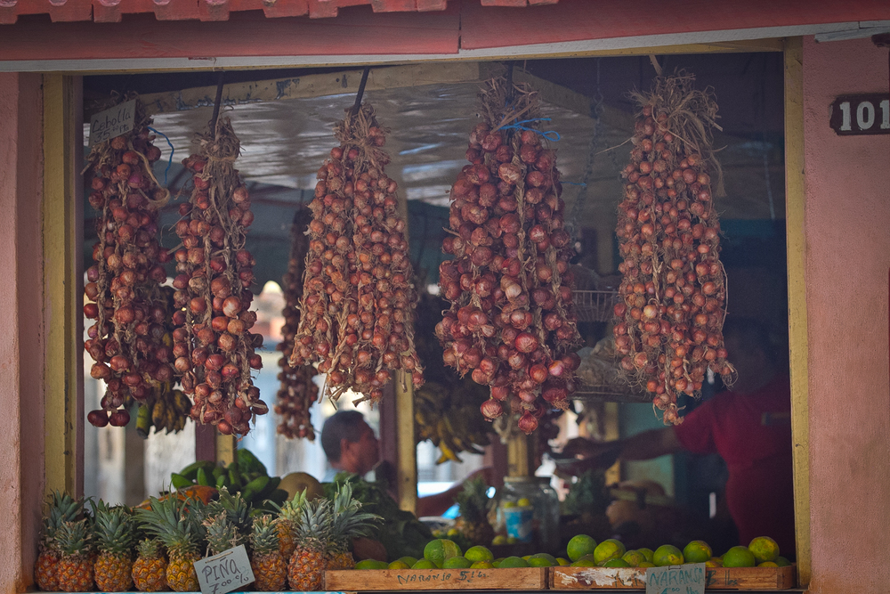 Produce stand, Trinidad Cuba