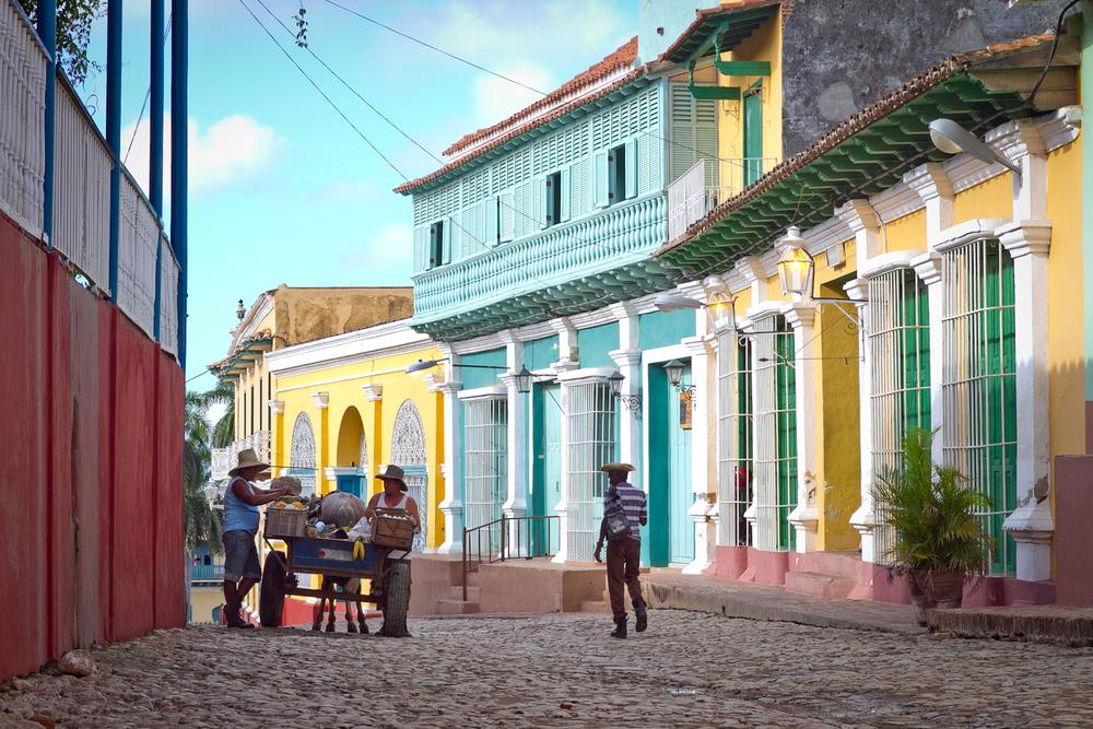Cobbled street, Trinidad, Cuba