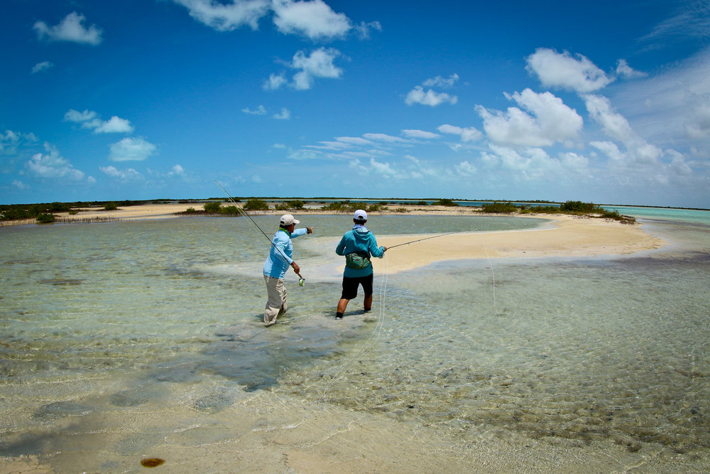 Some of the great habitat of the Crayo Cruz backcountry. Rafa sees a few Bonefish in this small lagoon.