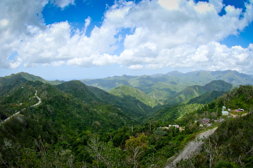 The route to Baracoa, looking south towards Santiago de Cuba.