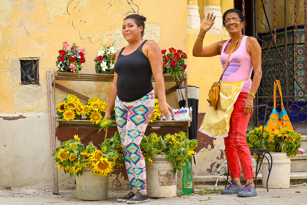 "Side street flower vendors....... ""Tienes una esposa?"" ""Si"" I replied. ""Quieres una novia Cubana?!"" they asked next!"