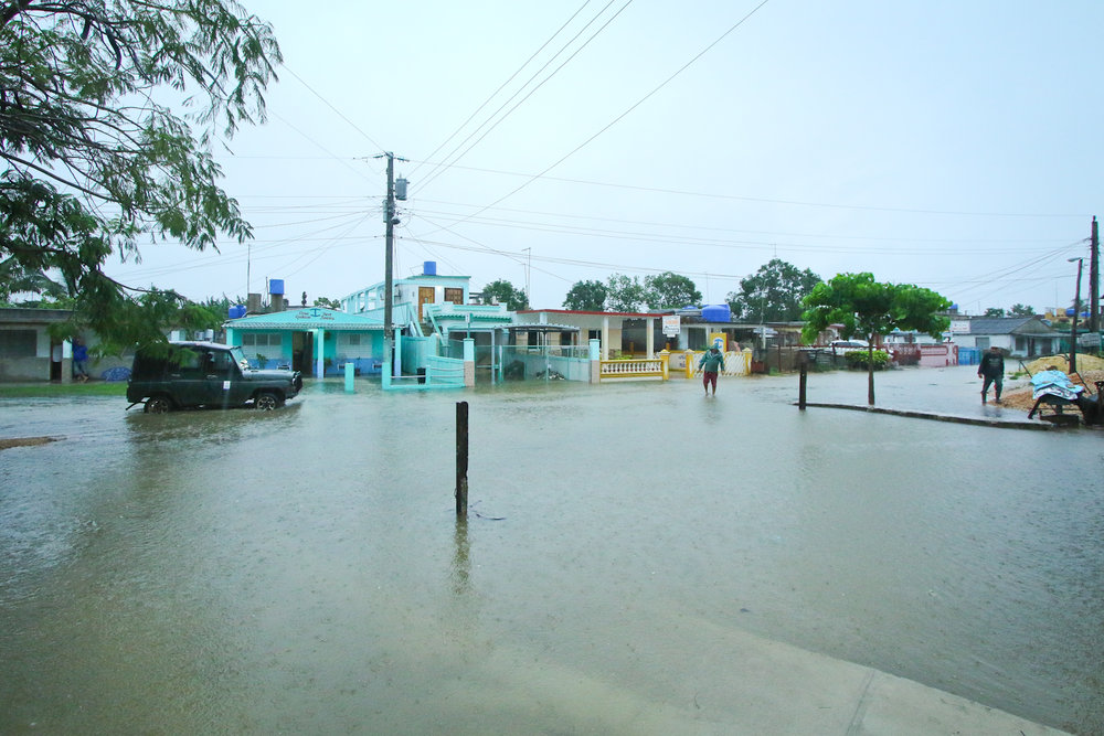 The streets of Playa Larga were flooded, as was much of Cuba. This was a huge, and unusual storm.