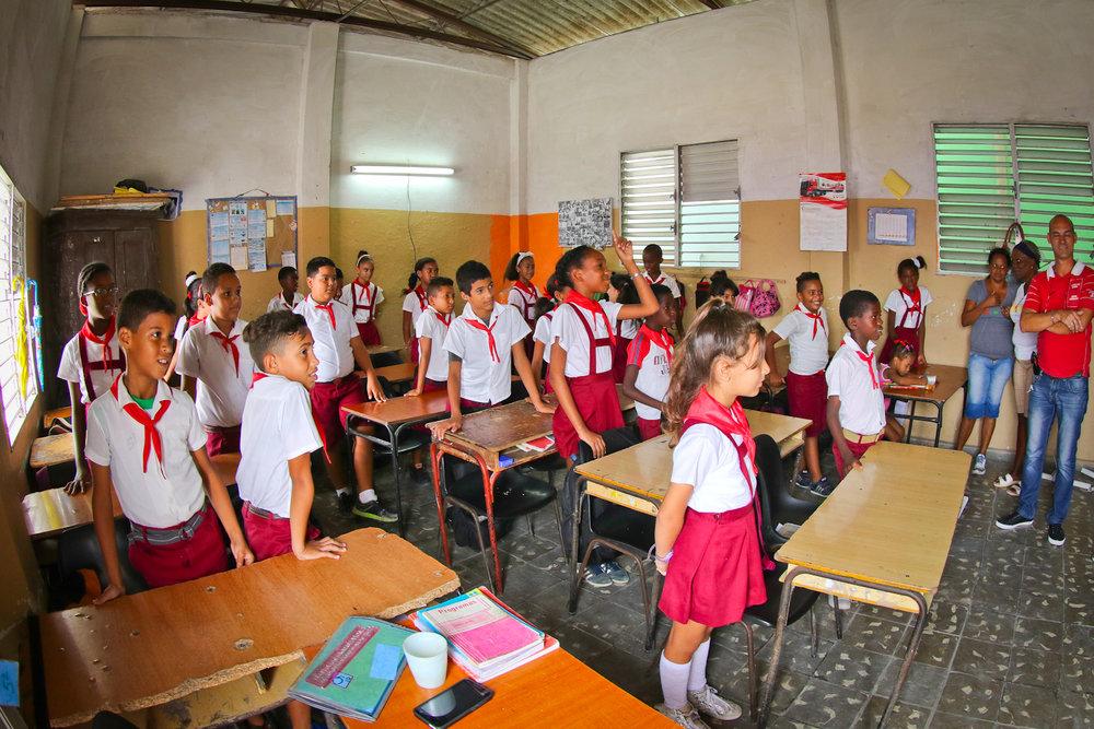 Cuban classroom