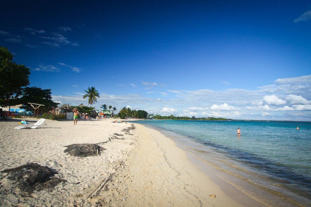 The beach at Playa Larga