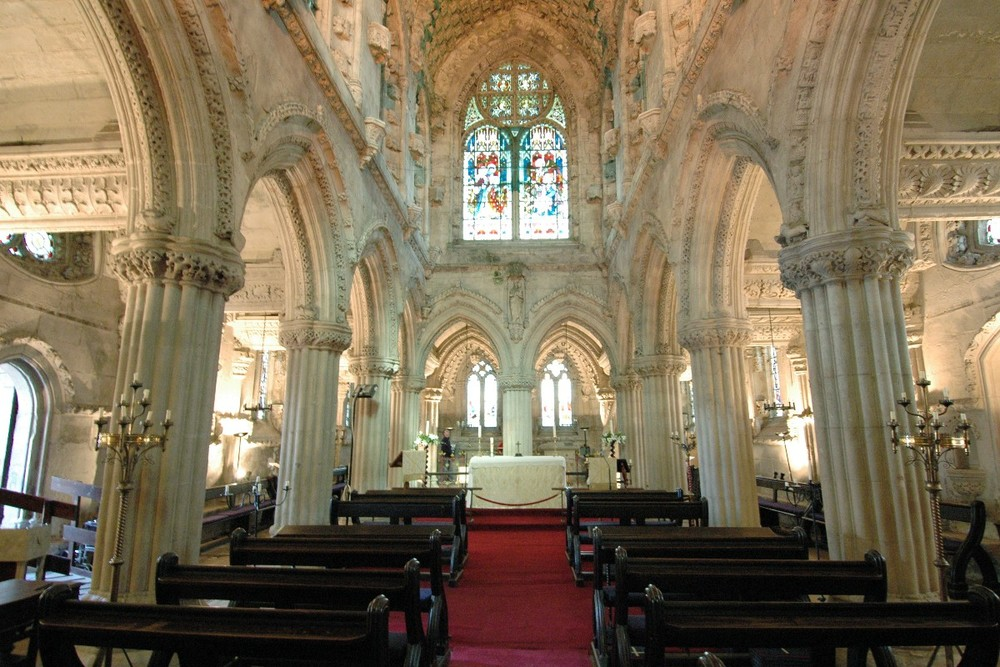 Inside the Rosslyn Chapel