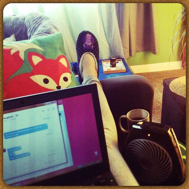 Current POV...when it rains, I laze 😛 #workfromhome #selfemployed #couching #coffee #raininginla