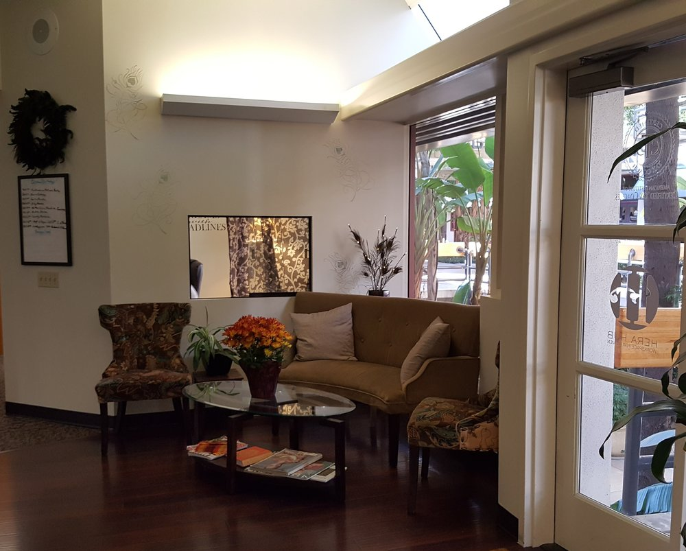 The residential feel starts in the lobby.