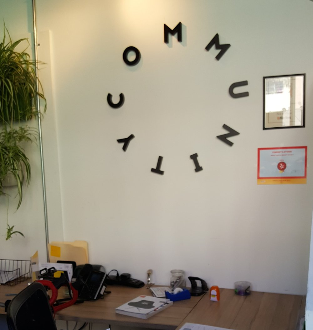 Co-mmunity describes itself as a creative co-working space and hub for small businesses and entrepreneurs where members are the priority.