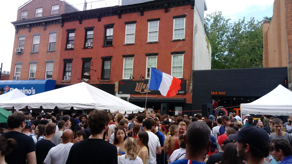 On the heels of their World Cup victory, French pride was in full view at the annual Smith Street Bastille Day in Brooklyn.