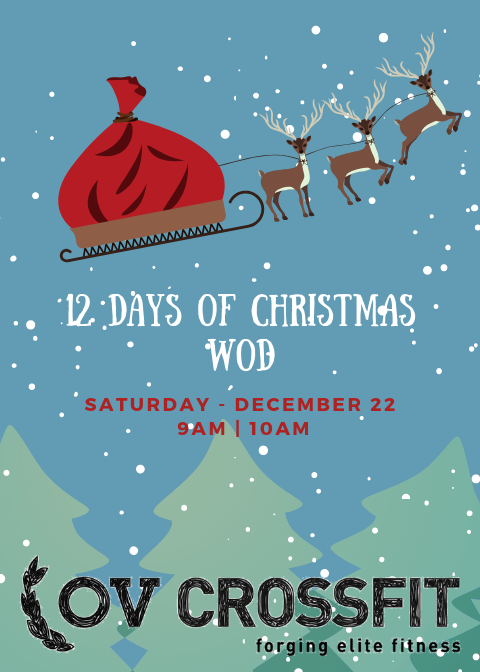 12 Days Of Christmas Crossfit Wod.12 Days Of Christmas Wod Ov Crossfit