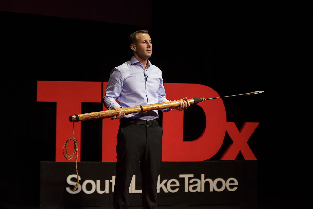 TedX South Lake Tahoe with harpoon.jpg