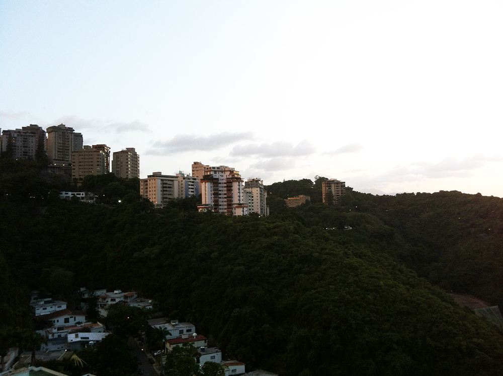 Caracas at sunset