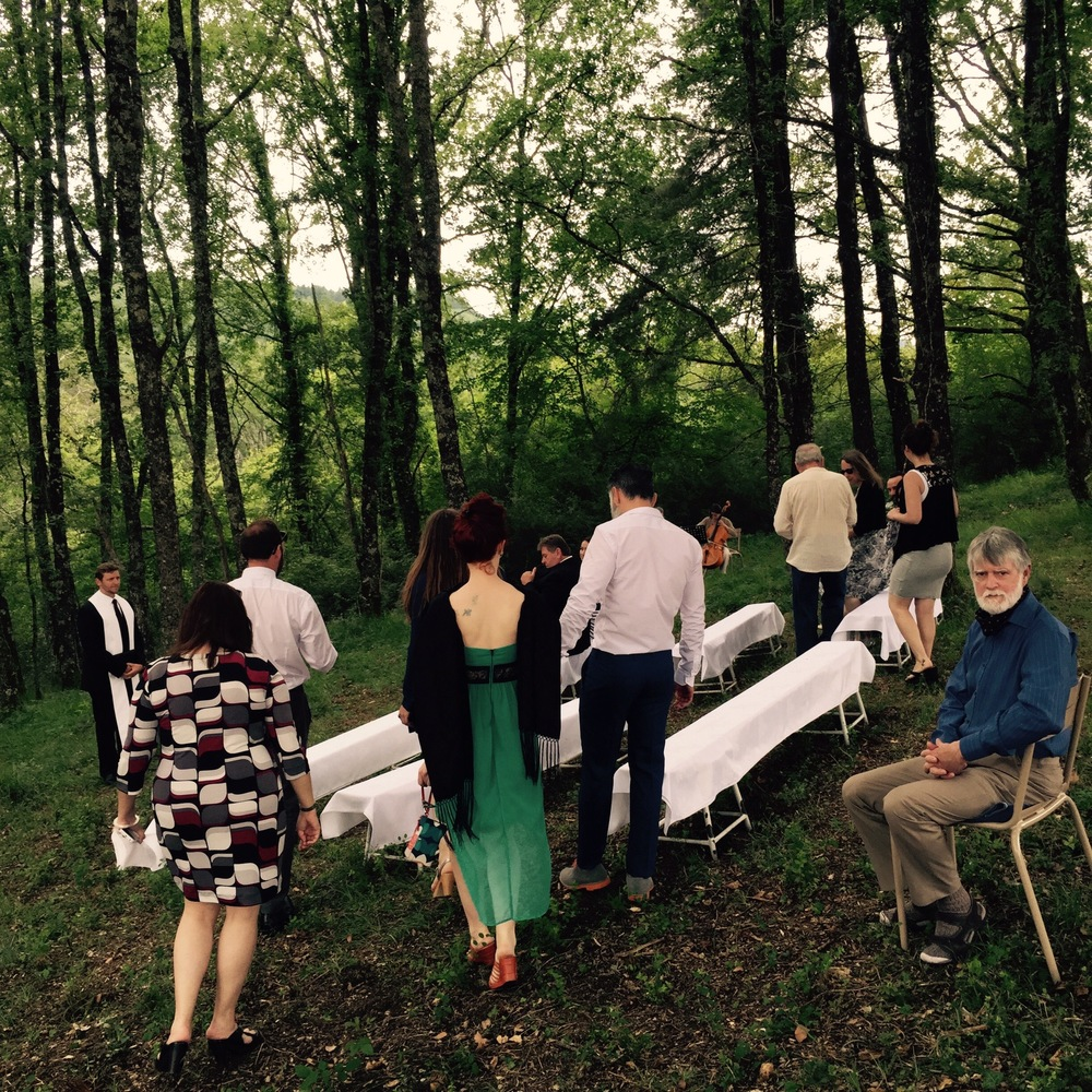hillside ceremony