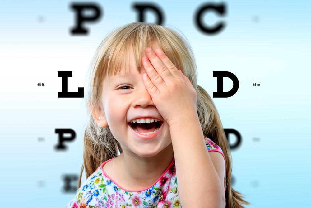 When do I bring my child in for an eye exam? -