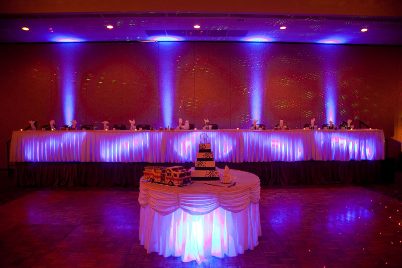 colorado wedding productions offers uplighting as an add on service to any wedding dj service we use high powered 18 watt led uplights which can be made to
