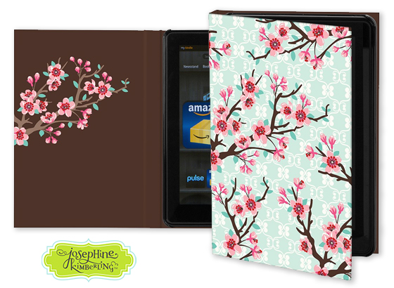 Josephine Kimberling's 'Cherry Blossoms' Keka Case for tablet devices