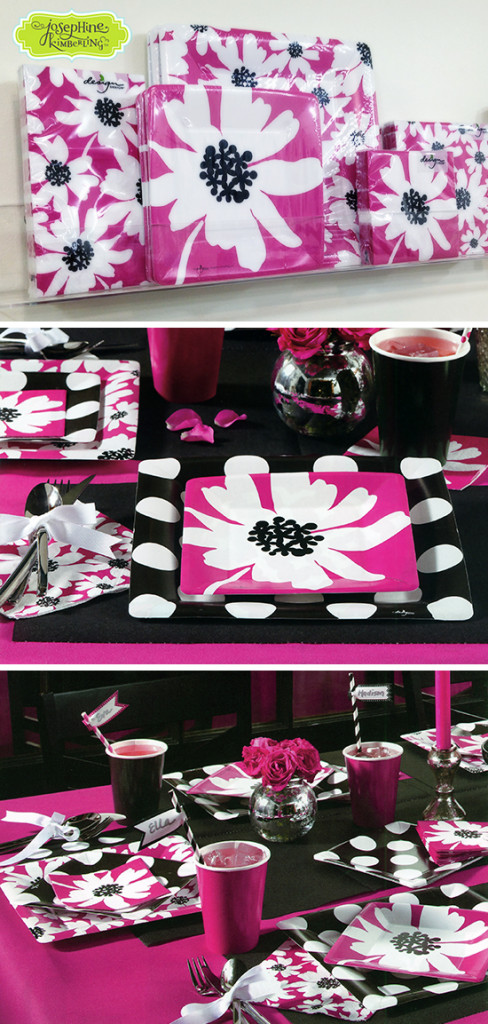 Josephine Kimberling's 'Pretty in Floral' artwork on Paper Tableware with Design Design