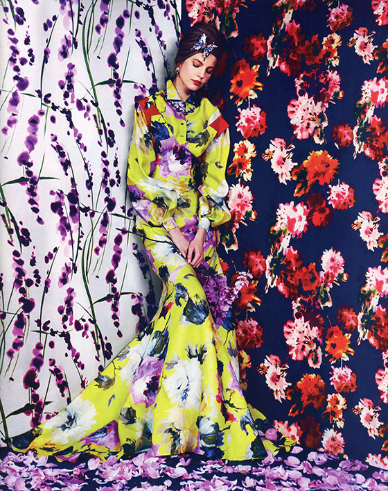 Beautiful Pattern as found in Harper's Bazaar Magazine's March 2014 Issue. Click to view all 5 of the glorious images. Photos by Erik Madigan Heck. Fashion Editor: Joanna Hillman