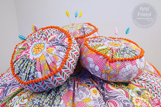Bohemian Pillow Cover Sewing pattern by Amy Friend. Purchase at her Etsy shop, DuringQuietTime. Love how she's using my Caravan Dreams fabrics!