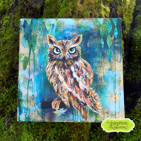Owl painting by Josephine Kimberling