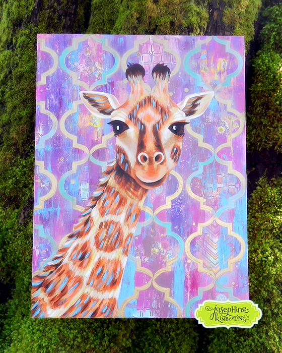 Giraffe painting by Josephine Kimberling