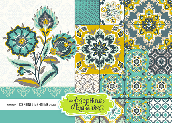 Josephine Kimberling's will be in Surtex 2014 booth #540!