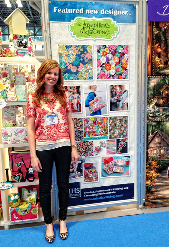 Josephine Kimberling as the Featured Designer at MHS Licensing's booth - Surtex 2014