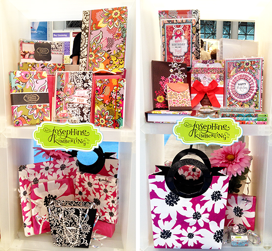 Josephine Kimberling's licensed products on showcase at Surtex 2014 in the MHS Licensing booth