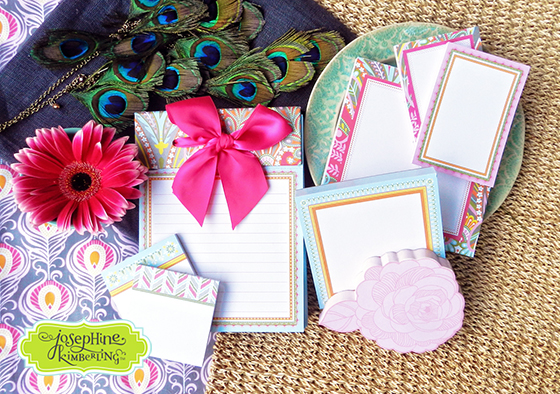 "Josephine Kimberling's ""Caravan Dreams"" stationery collection with Blend / Anna Griffin"