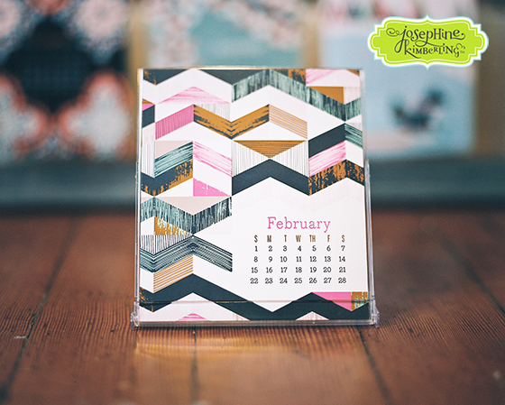 Josephine Kimberling's colorful 2015 Desk Calendar! Available for sale in her Etsy shop: JosephineKimberling