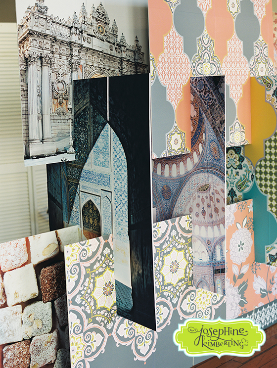 "Josephine Kimberling's ""Turkish Delight"" fabric collection with Blend Fabrics!"