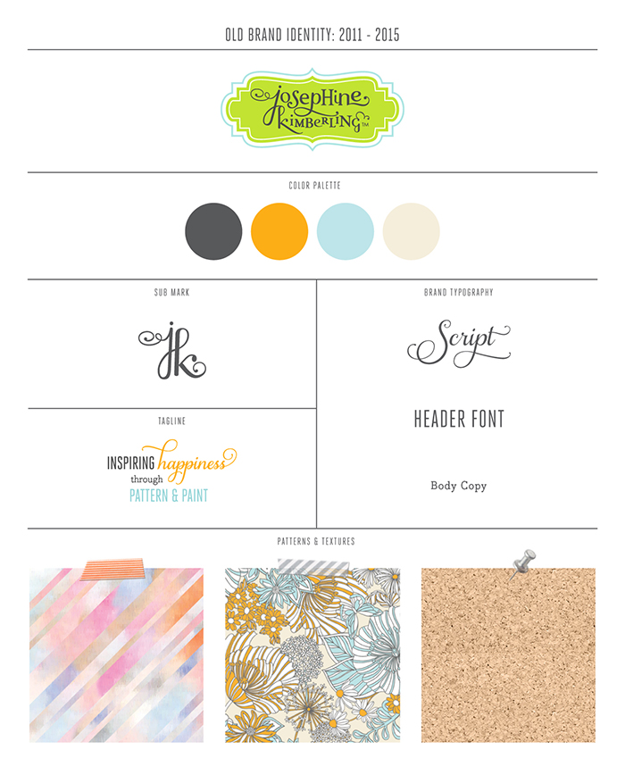 Josephine Kimberling's Old Brand Identity 2011-2015