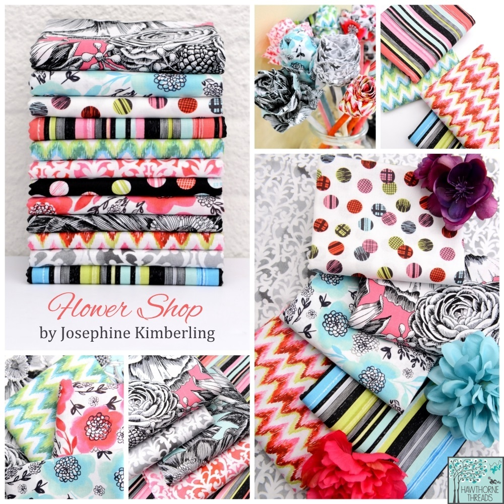 Flower Shop Fabrics by Josephine Kimberling at Hawthorne Threads