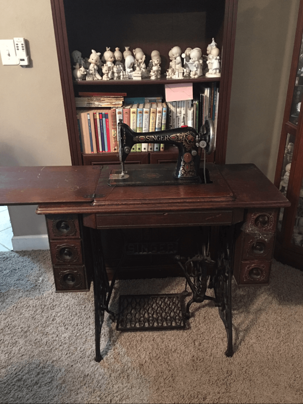 98 year old Singer pedal sewing machine