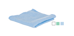 Microfiber Waffle cloths   -   have a textured finish that is more abrasive than traditional cloths. Used for heavier soils that still require a streak-free finish.