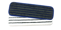 Microfiber Horizontal Stripe Scrub Mop   - Our industrial strength flat wet scrub mops are larger than standard scrubbing mops and feature tough polypropylene ridges.