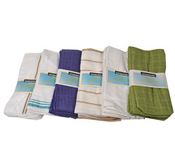 Retail Ready Dish Cloth 6 Pack - Perfect for extended stay suites, bed and breakfasts, and vacation home rentals,