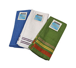 Retail Ready Kitchen Towel 3 Pack - These retail ready kitchen towels 3 Packs compliment the dish cloth assortment