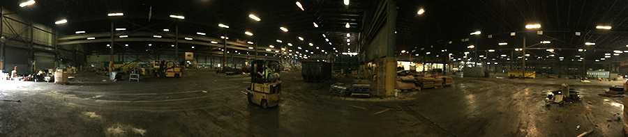 Panoramic shot of the the north end of the new facility being cleared for construction.
