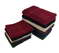 True Color Towels   - Ideal for colleges, gyms, golf clubs, and hotels. These towels are soft, ring spun100% cotton, with a dobby border.