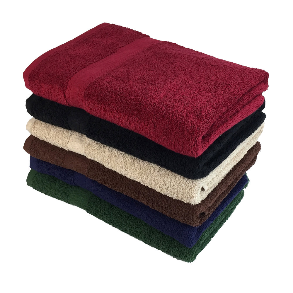 True Color Bath Towel - $34/DozenSize: 25 X 5210.5lb Ring Spun2 Dozen / Carton36 Cartons / Pallet