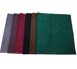 Bleach Safe Stylist Towels - $14.50/DozenREALLY bleach-safe and available in Black, Brown, Burgundy, Charcoal, Eggplant, Hunter Green,  and whatever color you would like.Size: 16 x 283lb Ring Spun12 Dozen / Carton20 Cartons / Pallet