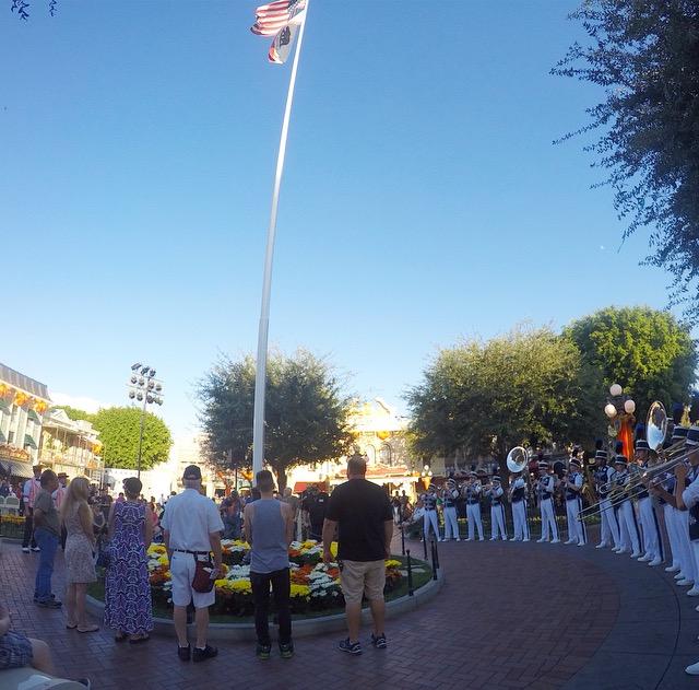 Veterans at the Disneyland Flag Retreat Ceremony