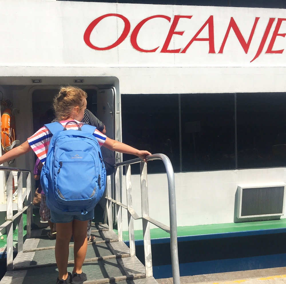 All aboard the Ocean Fast ferry to Bohol