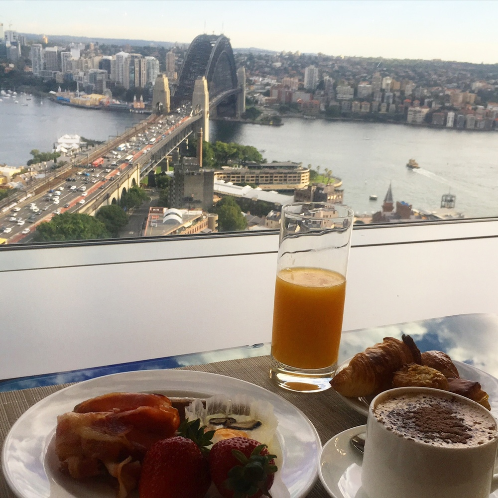 Gorgeous Harbour view breakfast at the Shangri-La Hotel Sydney