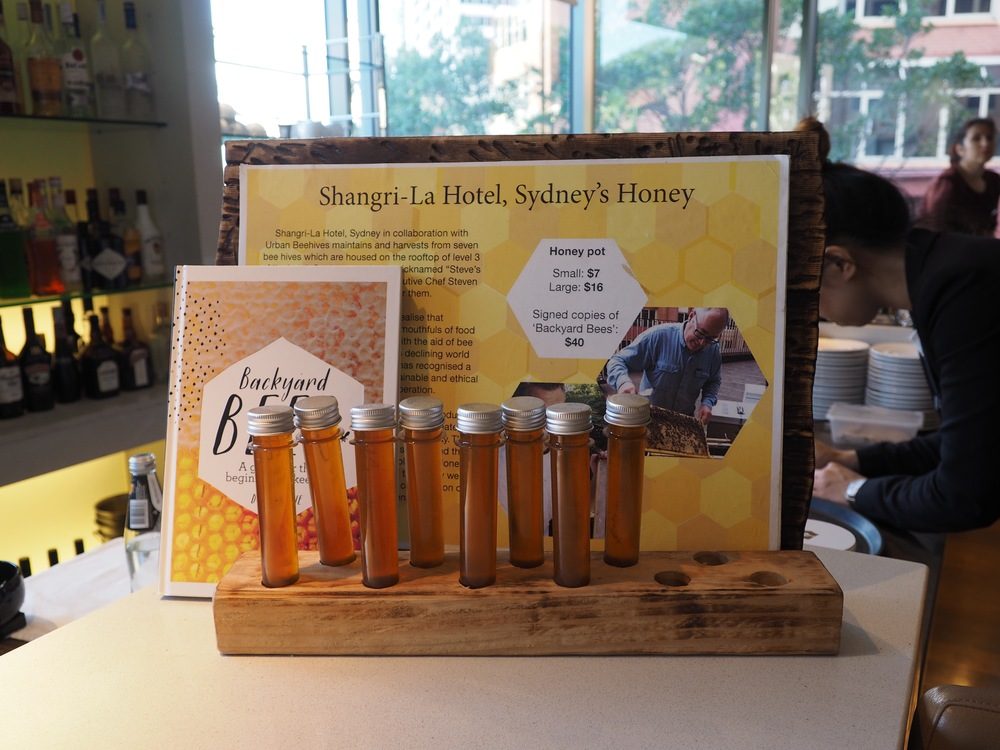 Homemade honey from the Shangri-La's rooftop organic bee farm.