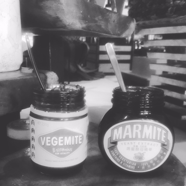 Yay for vegemite...and marmite at breakfast.